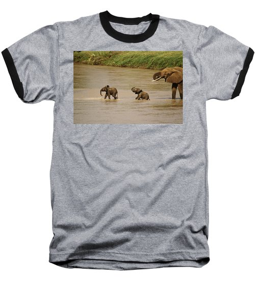 Tiny Elephants Baseball T-Shirt