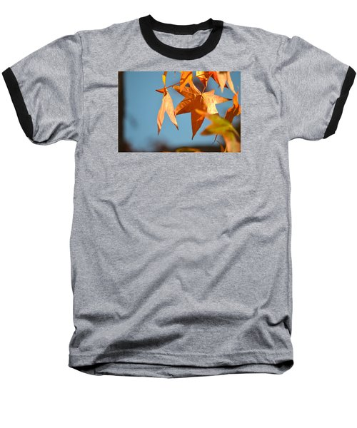 Baseball T-Shirt featuring the photograph  It Feels Like Fall by Alex King