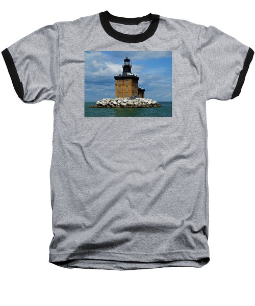 Toledo Harbor Lighthouse Baseball T-Shirt