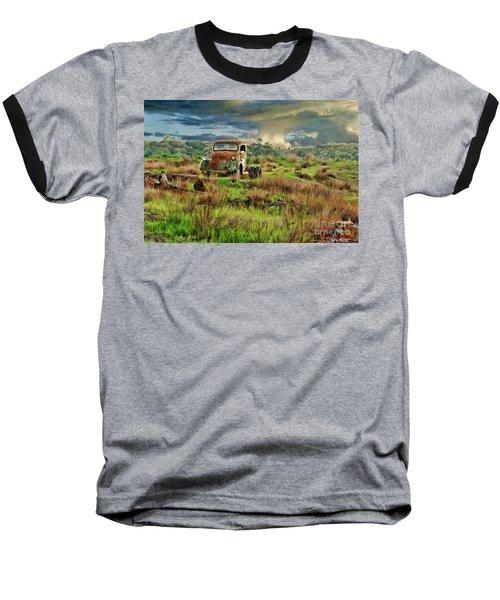 Tornado Truck Baseball T-Shirt