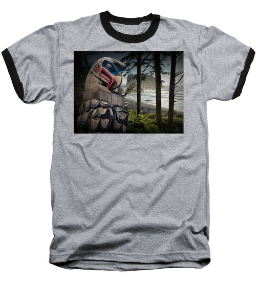 Totem Pole In The Pacific Northwest Baseball T-Shirt