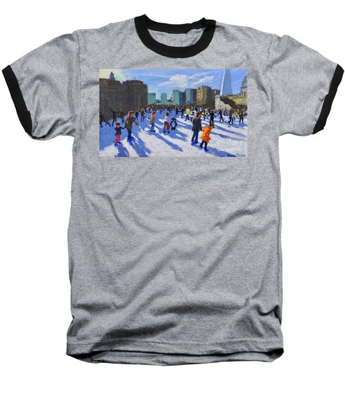 Tower Of London Ice Rink Baseball T-Shirt