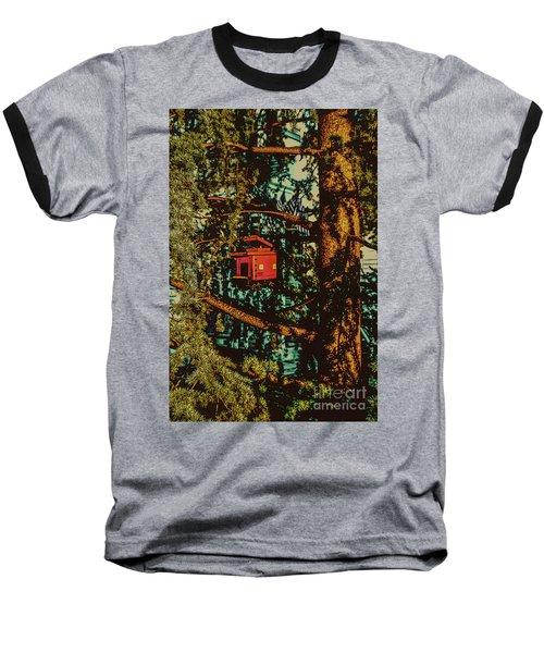 Train Bird House Baseball T-Shirt