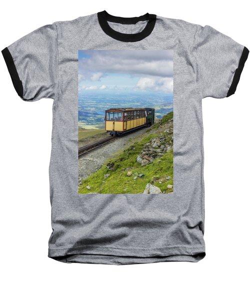 Train To Snowdon Baseball T-Shirt by Ian Mitchell