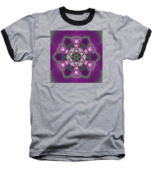 Baseball T-Shirt featuring the digital art Transition Flower 6 Beats 3 by Robert Thalmeier