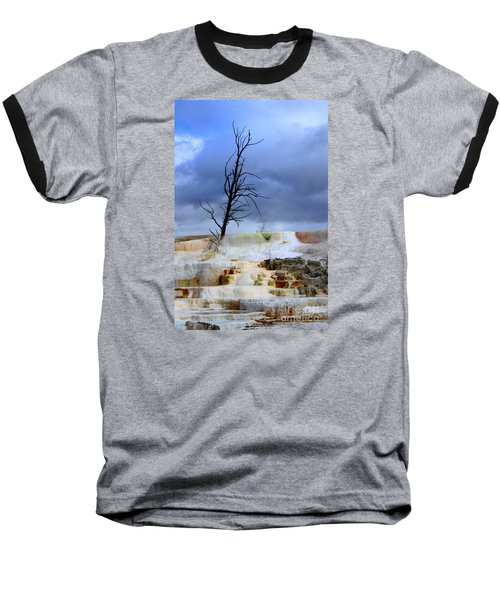 Baseball T-Shirt featuring the photograph Travertine Terraces by Irina Hays