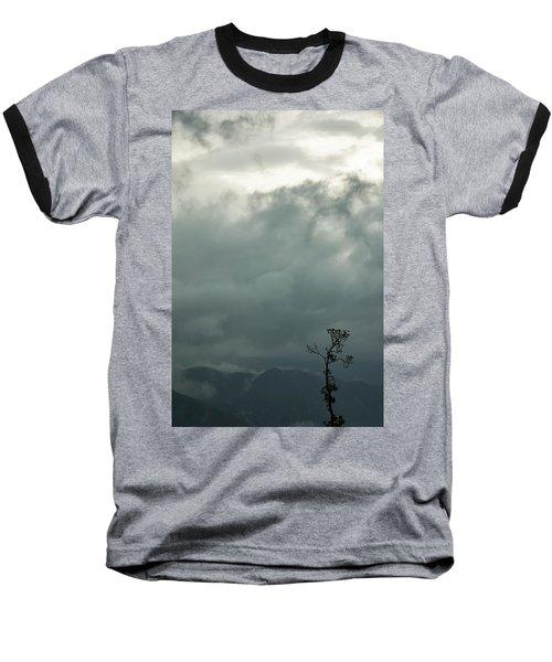 Tree And Mountain  Baseball T-Shirt by Rajiv Chopra