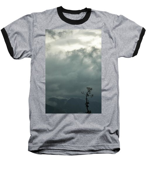 Tree And Mountain  Baseball T-Shirt