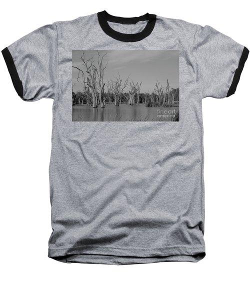 Tree Cemetery Baseball T-Shirt by Douglas Barnard