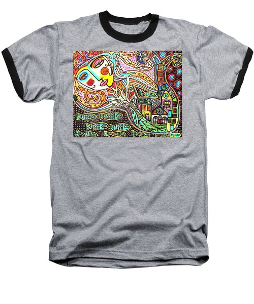 Tree Of Life Village Mermaid Baseball T-Shirt