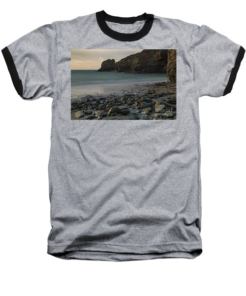 Baseball T-Shirt featuring the photograph Trevellas Cove by Brian Roscorla