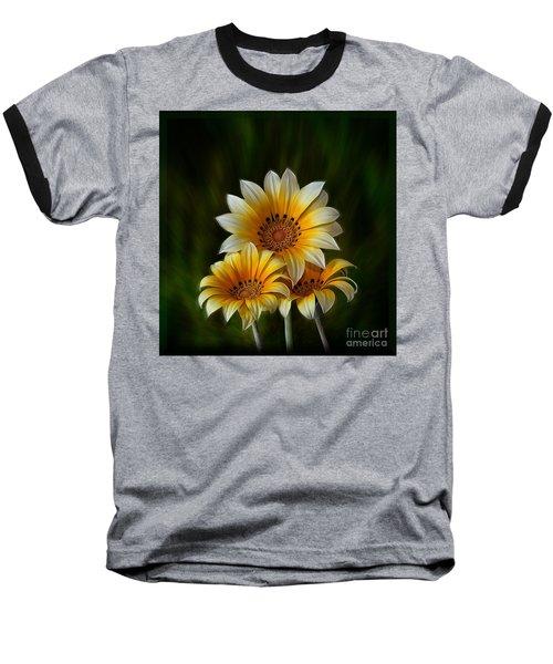 Triple Sunshine Baseball T-Shirt by Shirley Mangini