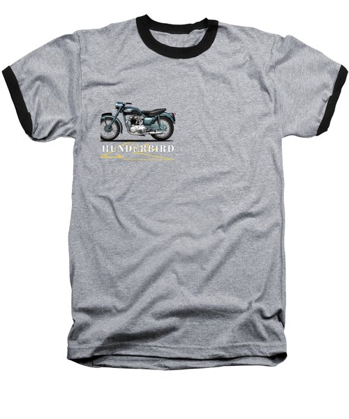 Triumph Thunderbird 1955 Baseball T-Shirt by Mark Rogan