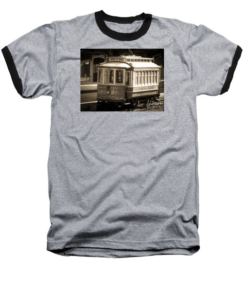 Baseball T-Shirt featuring the photograph Vintage Train Trolley by Melissa Messick