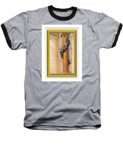 Trompe L'oeil Column Baseball T-Shirt