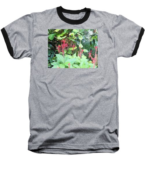 Tropical Flowers Baseball T-Shirt by Kay Gilley