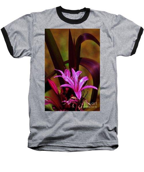 Tropical Lily Baseball T-Shirt by Craig Wood