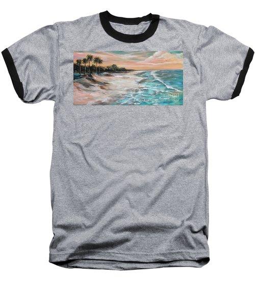 Tropical Shore Baseball T-Shirt by Linda Olsen