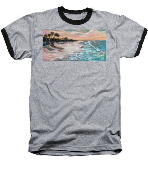 Tropical Shore Baseball T-Shirt