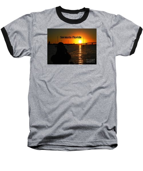 Tropical Sunset Baseball T-Shirt