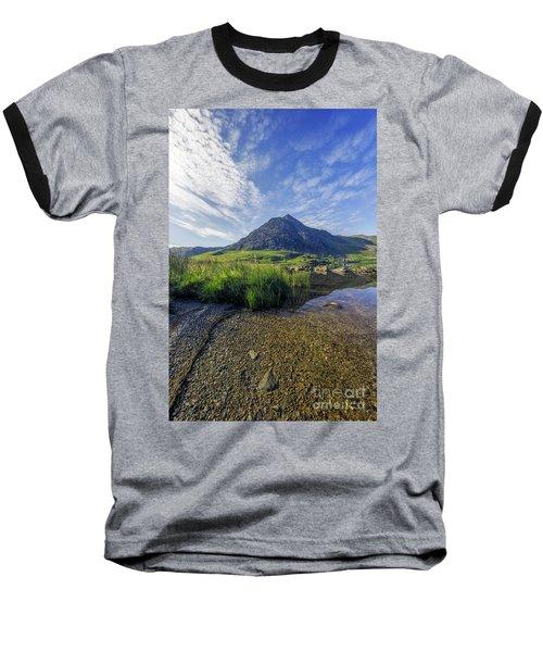 Tryfan Mountain Baseball T-Shirt by Ian Mitchell
