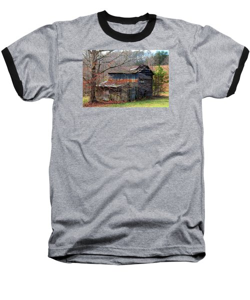 Tumbledown Barn Baseball T-Shirt by Kathryn Meyer