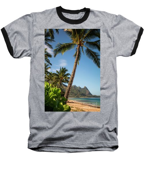 Tunnels Beach Haena Kauai Hawaii Bali Hai Baseball T-Shirt