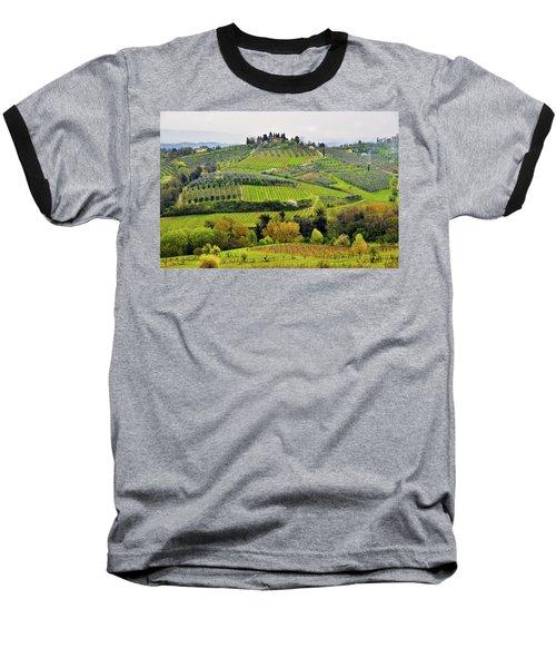 Tuscany Landscape Baseball T-Shirt