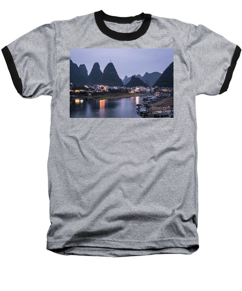 Twilight Over The Lijang River In Yangshuo Baseball T-Shirt