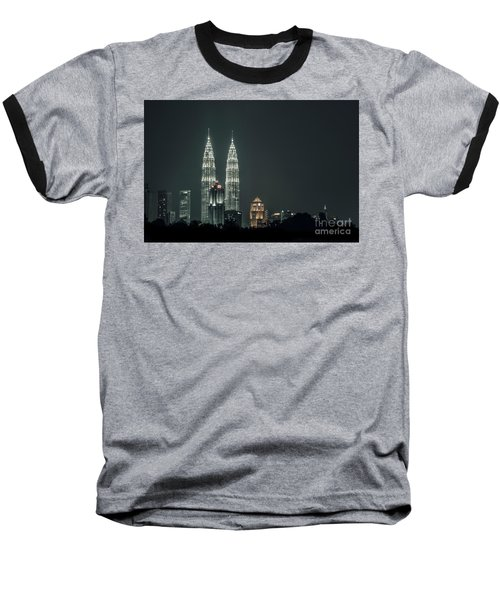 Baseball T-Shirt featuring the photograph Twin Towers by Charuhas Images