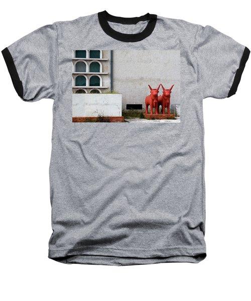 Two Orange Bulls Baseball T-Shirt