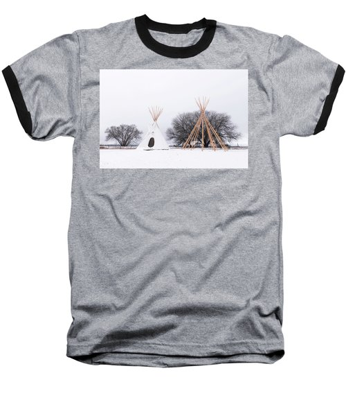 Two Tipis Baseball T-Shirt