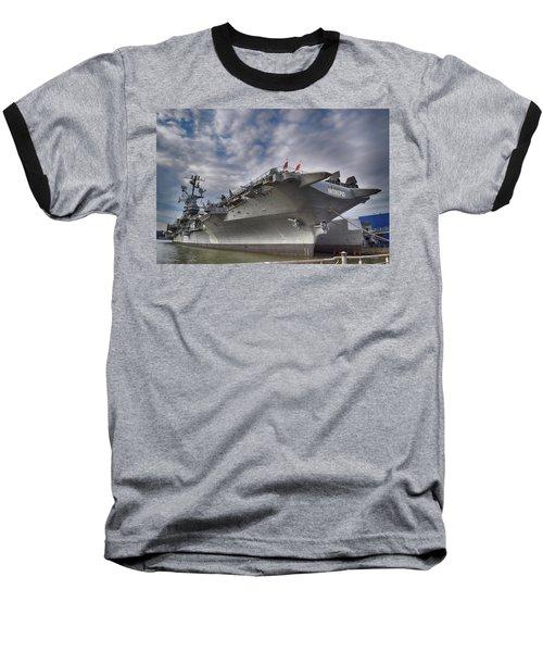 The U S S Intrepid  Baseball T-Shirt