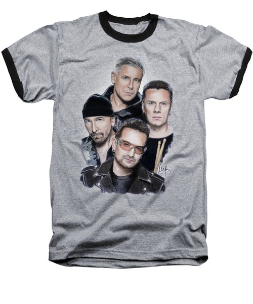 U2 Baseball T-Shirt by Melanie D