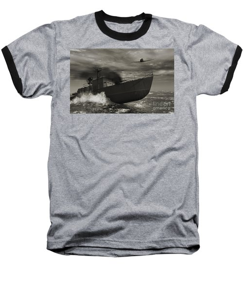 Under Attack  Baseball T-Shirt