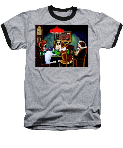 Under The Table Baseball T-Shirt by Ron Chambers