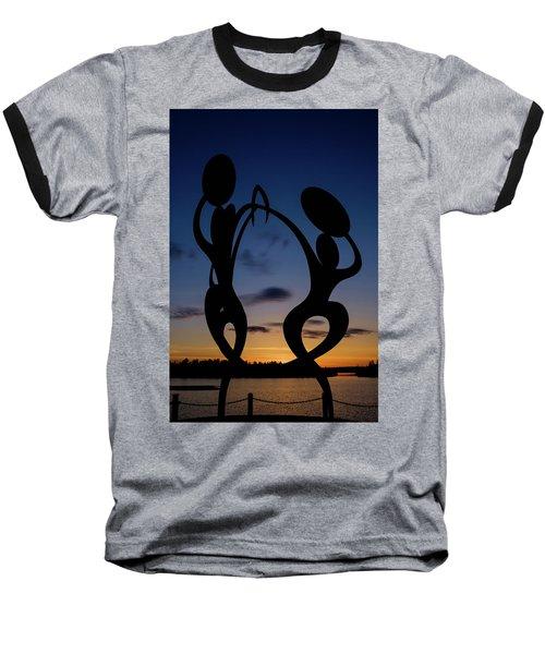 United In Celebration Sculpture At Sunset 5 Baseball T-Shirt by John McArthur