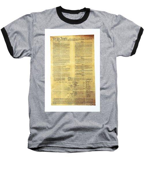 U.s Constitution Baseball T-Shirt
