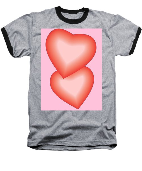 Baseball T-Shirt featuring the digital art Valentine Hearts by Sherril Porter