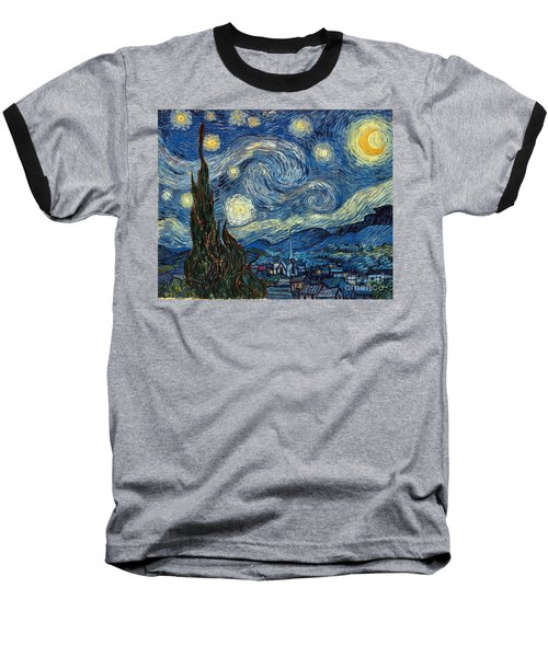 Van Gogh Starry Night Baseball T-Shirt