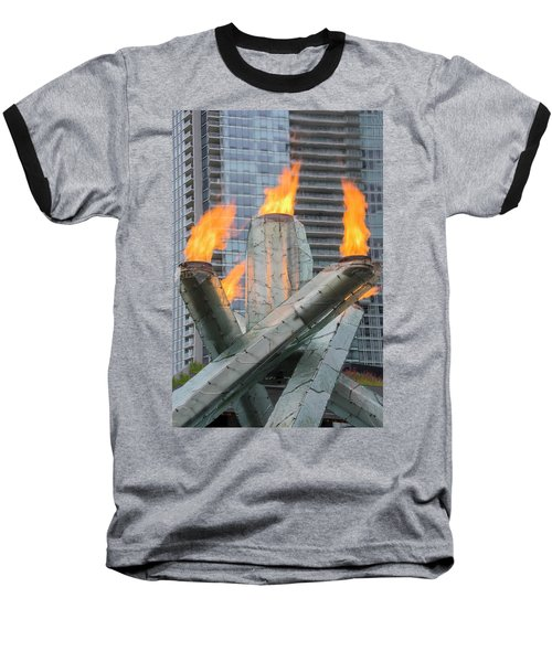 Vancouver Olympic Cauldron Baseball T-Shirt