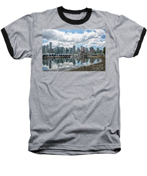 Vancouver Skyline Baseball T-Shirt by Patricia Hofmeester