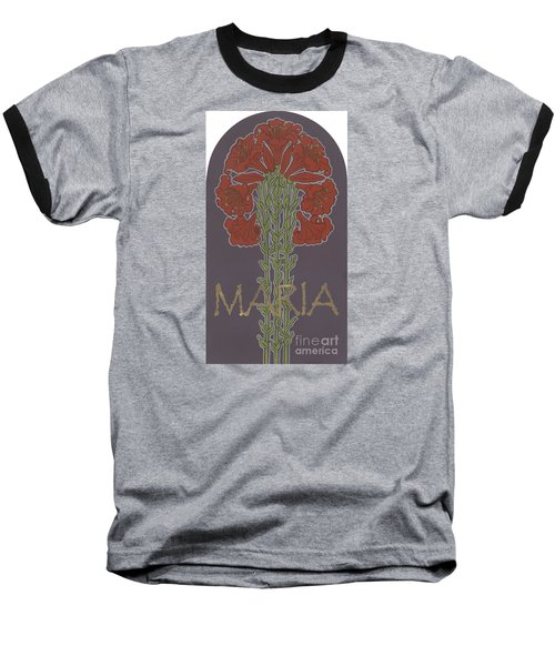 Baseball T-Shirt featuring the painting Variation On Our Lady Of Sorrows 236 by William Hart McNichols