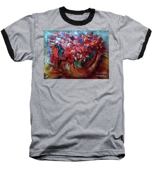 Baseball T-Shirt featuring the painting Vase by Jasna Dragun
