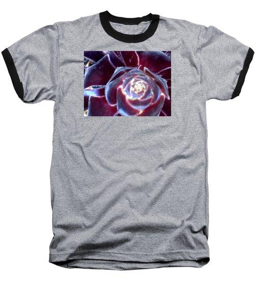 Velvet Rosette Baseball T-Shirt by Vivien Rhyan