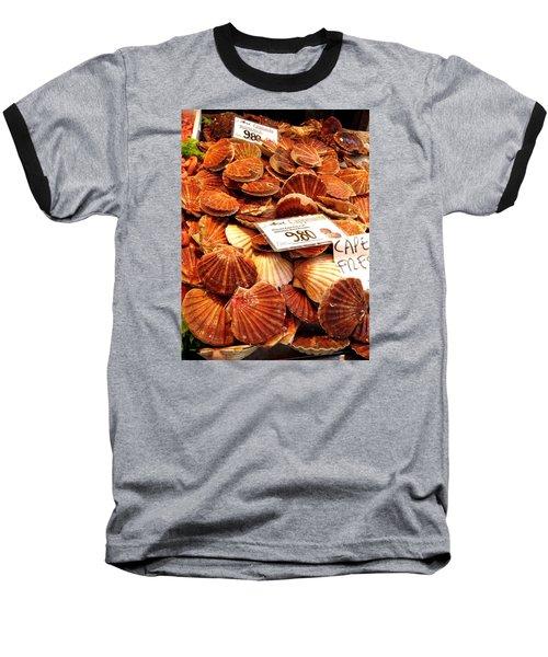 Venice Fish Market Baseball T-Shirt