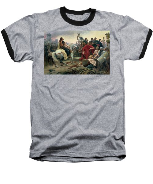 Vercingetorix Throws Down His Arms At The Feet Of Julius Caesar Baseball T-Shirt