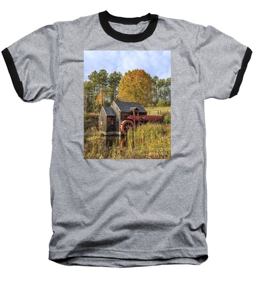 Baseball T-Shirt featuring the photograph Vermont Grist Mill by Edward Fielding