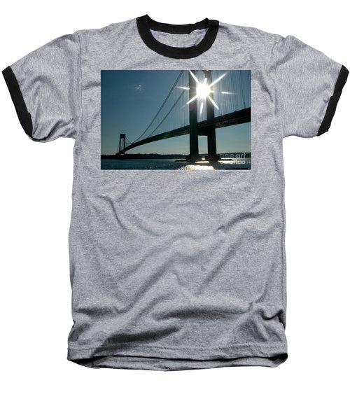 Verrazano Bridge Starburst Baseball T-Shirt