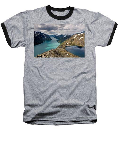 View From Bessegen Ridge Baseball T-Shirt by Aivar Mikko